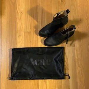 Acne Pistol Leather Boots, Size 6